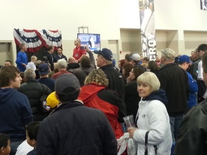 The crowd around Braun, after it has died down a bit